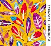 vector seamless pattern of... | Shutterstock .eps vector #518095618