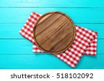 frame of brown round cutting... | Shutterstock . vector #518102092