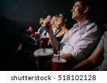 group of people in theater with ... | Shutterstock . vector #518102128
