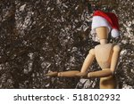 mannequin with santas hat in... | Shutterstock . vector #518102932