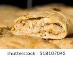 closeup of puff pastry strudel... | Shutterstock . vector #518107042