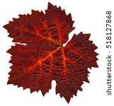 A Single Colored Leaf From The...