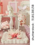 cupcake and cake pops decorate... | Shutterstock . vector #518138158