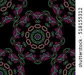 distressed damask seamless... | Shutterstock .eps vector #518155312