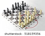 chess. white board with chess... | Shutterstock . vector #518159356