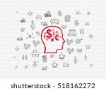 business concept  painted red...   Shutterstock . vector #518162272