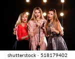 three young smiley beautiful...   Shutterstock . vector #518179402