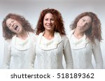 front view on three versions of ... | Shutterstock . vector #518189362