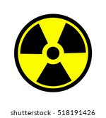 the radiation icon. radiation... | Shutterstock .eps vector #518191426