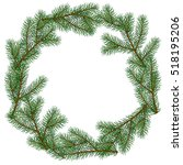 spruce branches. hand drawn....   Shutterstock .eps vector #518195206