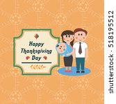 thanksgiving day card template. | Shutterstock . vector #518195512