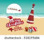 merry christmas and a happy new ... | Shutterstock .eps vector #518195686