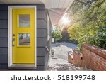 Modern Yellow Front Door With...