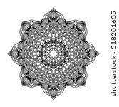 mandala. ethnic decorative... | Shutterstock .eps vector #518201605