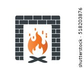 Fireplace Icon Design Template...