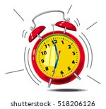 image of ringing alarm clock.... | Shutterstock . vector #518206126