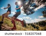 trail running athletes crossing ...   Shutterstock . vector #518207068