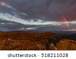sunset rainbow at sunset point  ... | Shutterstock . vector #518211028