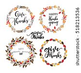 give thanks season hand drawn... | Shutterstock .eps vector #518213536