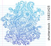 hand drawn paisley henna style... | Shutterstock .eps vector #51821425
