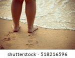 beautiful young legs  walking... | Shutterstock . vector #518216596