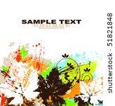vector grunge background | Shutterstock .eps vector #51821848