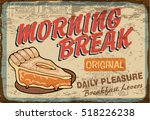 vintage apple pie placed on old ... | Shutterstock .eps vector #518226238