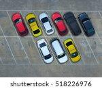 empty parking lots  aerial view. | Shutterstock . vector #518226976