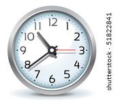vector wall clock icon | Shutterstock .eps vector #51822841