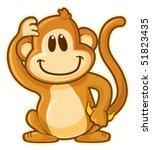 Monkey. Vector Without...