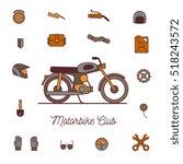motorbike accessories icons | Shutterstock .eps vector #518243572