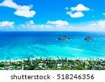 lanikai beach as seen from... | Shutterstock . vector #518246356