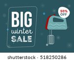 big winter sale poster. kitchen ...   Shutterstock .eps vector #518250286