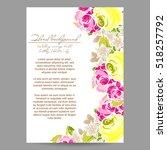 romantic invitation. wedding ... | Shutterstock .eps vector #518257792