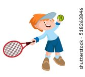 kids playing tennis sport...   Shutterstock .eps vector #518263846