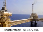 offshore oil and rig platform... | Shutterstock . vector #518272456