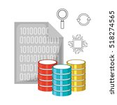 big data related icons image  | Shutterstock .eps vector #518274565