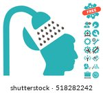 open mind shower icon with... | Shutterstock .eps vector #518282242