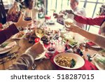 family together christmas... | Shutterstock . vector #518287015