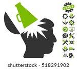 open brain megaphone pictograph ...
