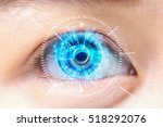 close up blue eye. high... | Shutterstock . vector #518292076