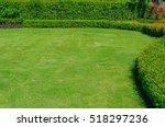 green lawn garden landscape... | Shutterstock . vector #518297236