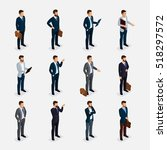 business people isometric set... | Shutterstock .eps vector #518297572