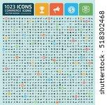 commerce icon set clean vector   Shutterstock .eps vector #518302468