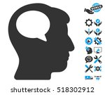 person thinking icon with bonus ... | Shutterstock .eps vector #518302912
