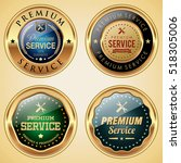 premium service badges | Shutterstock .eps vector #518305006