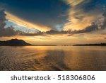 sunset over the sea  koh lanta  ...   Shutterstock . vector #518306806