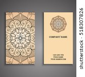 vector business card. floral... | Shutterstock .eps vector #518307826