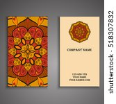 vector business card. floral... | Shutterstock .eps vector #518307832