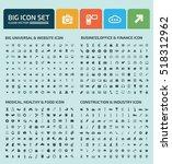 big icon set design clean vector | Shutterstock .eps vector #518312962
